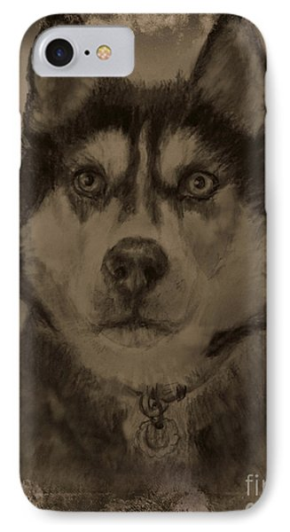 Honorable Husky IPhone Case by Michelle Wolff