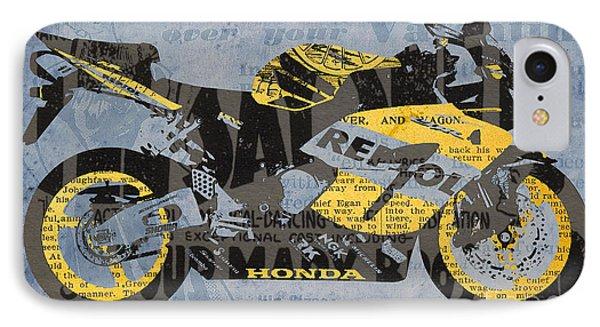 Honda Cbr1000 - Old Newspaper Cuts IPhone Case