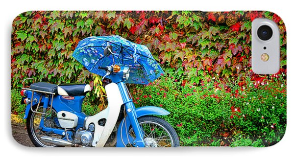 Honda With Umbrella IPhone Case by Olivier Le Queinec