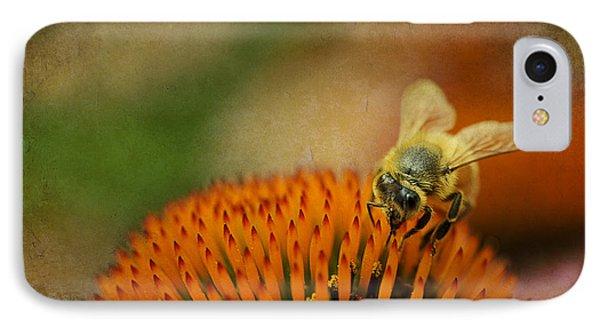 Honey Bee On Flower Phone Case by Dan Friend