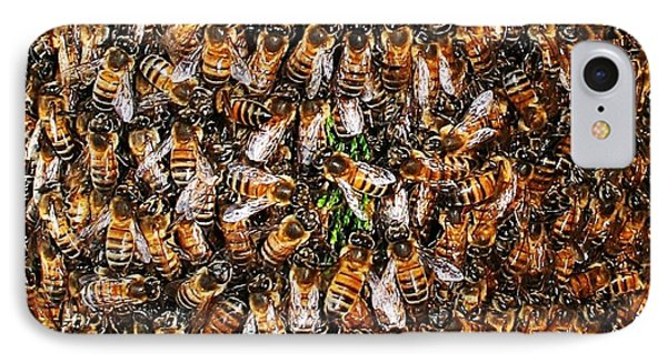 Honey Bee Swarm IPhone Case by Tom Janca