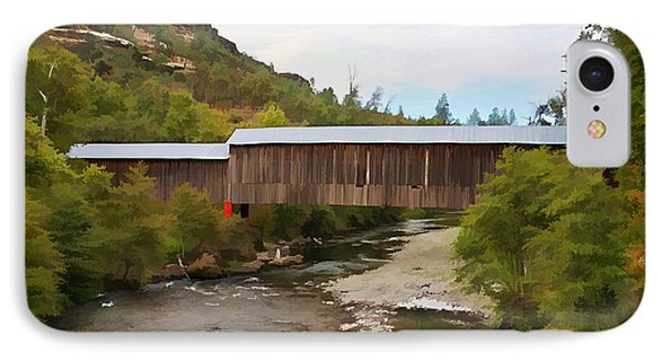 Honey Run Covered Bridge IPhone Case by Ron Roberts