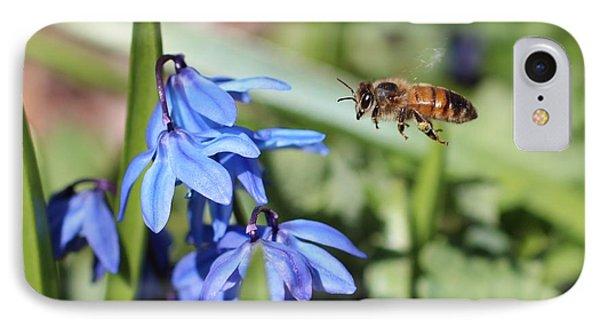 Honeybee In Flight IPhone Case by Lucinda VanVleck