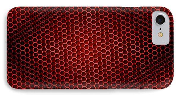 Honeycomb Background Seamless Red IPhone Case by Henrik Lehnerer