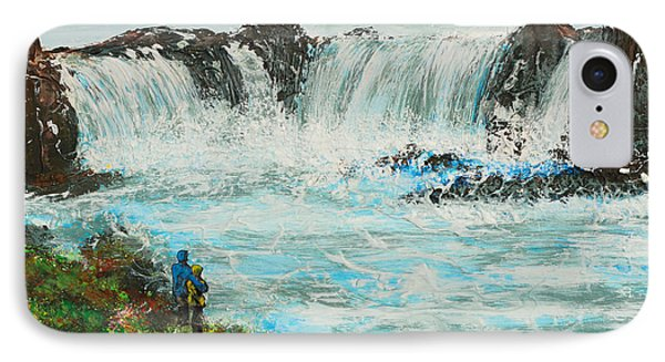 Honeymoon At Godafoss IPhone Case