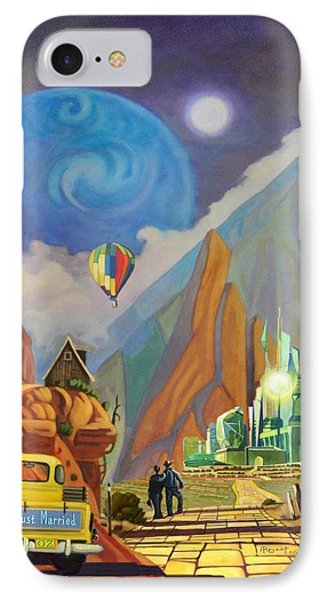 IPhone Case featuring the painting Honeymoon In Oz by Art West