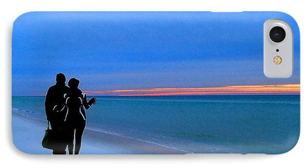 Honeymooners At Dawn On Pensacola Beach IPhone Case by Cindy Croal