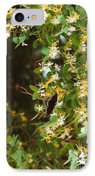 IPhone Case featuring the photograph Honeysuckle And Butterfly  by Jesse Ciazza