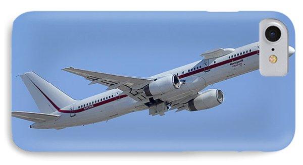 Honeywell Boeing 757 Engine Testbed N757hw Phoenix August 9 2013 Phone Case by Brian Lockett