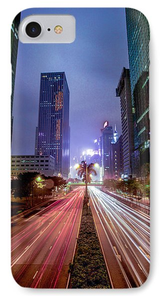 IPhone Case featuring the photograph Hong Kong Highway by Robert  Aycock