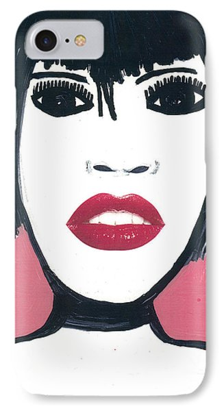 IPhone Case featuring the drawing Hong Kong Kiss by Don Koester