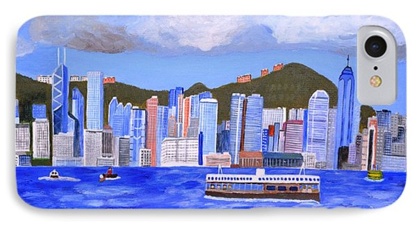 IPhone Case featuring the painting Hong Kong by Magdalena Frohnsdorff