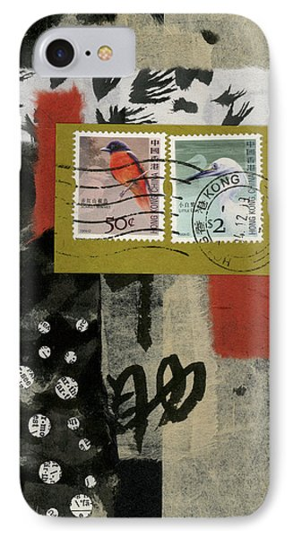 Hong Kong Postage Collage IPhone 7 Case by Carol Leigh