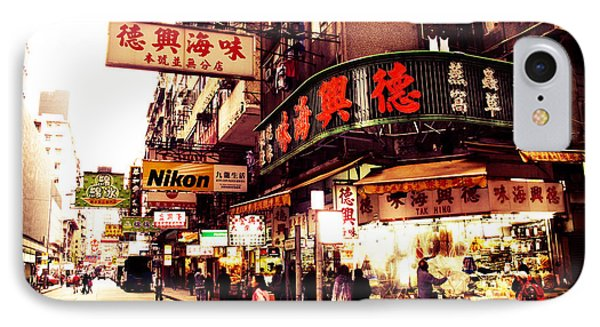 Hong Kong Street Phone Case by Ernst Cerjak