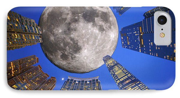 Hong Kong Union Square Moon IPhone Case