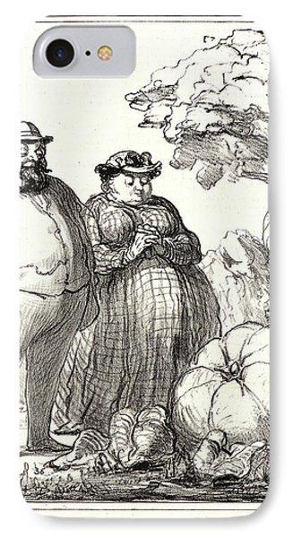 Honoré Daumier French, 1808 - 1879. Le Roi Des Potirons IPhone Case by Litz Collection