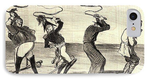Honoré Daumier French, 1808 - 1879. Tableau Politique Et IPhone Case by Litz Collection