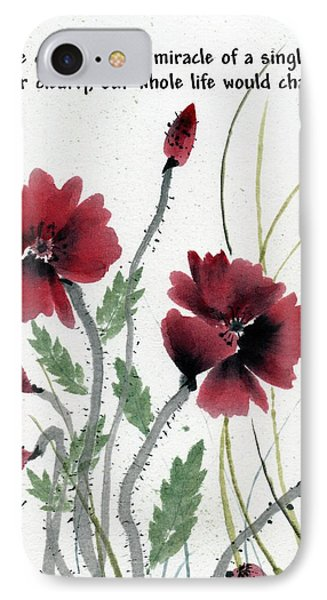 IPhone Case featuring the painting Honor With Buddha Quote I by Bill Searle