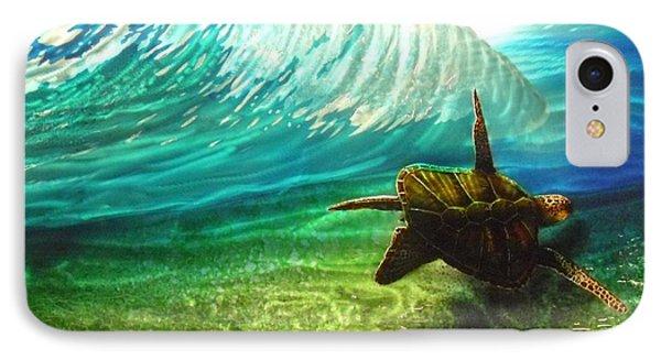 Honu Surf 2 Phone Case by Nick Knezic