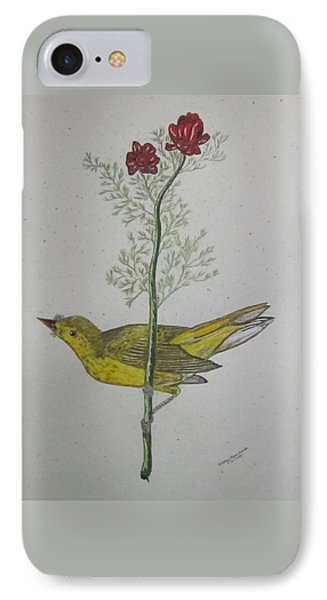 Hooded Warbler Phone Case by Kathy Marrs Chandler