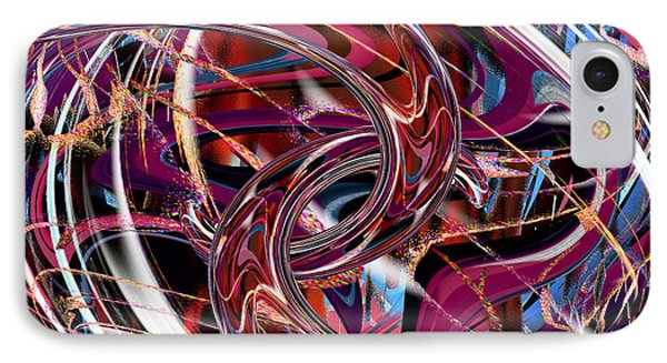 IPhone Case featuring the digital art Hooking Up by rd Erickson