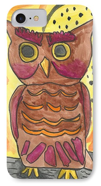 Hoot IPhone Case by Artists With Autism Inc