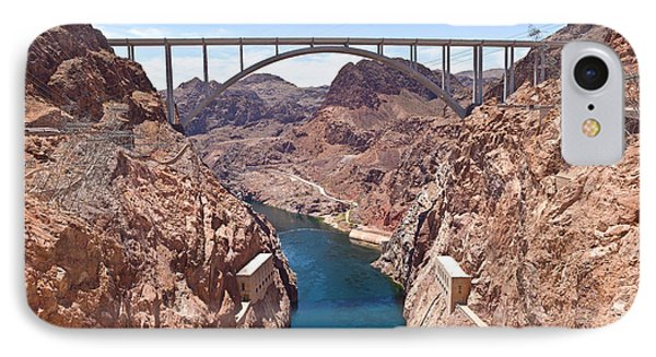 Hoover Dam Canyonland And Bridge IPhone Case