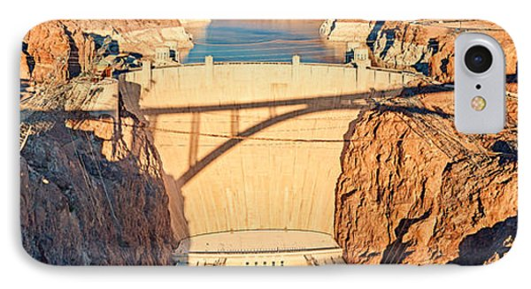 Hoover Dam From Bridge, Lake Mead IPhone Case by Panoramic Images