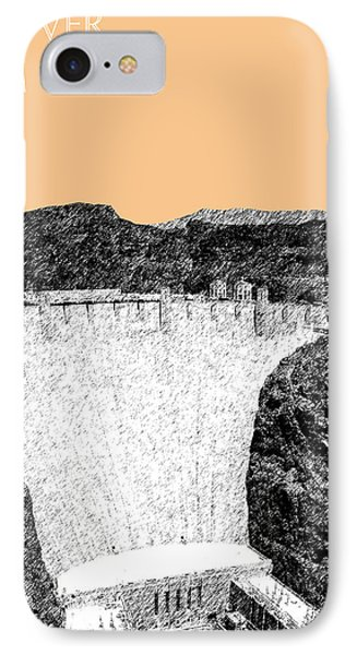 Hoover Dam - Wheat IPhone Case by DB Artist