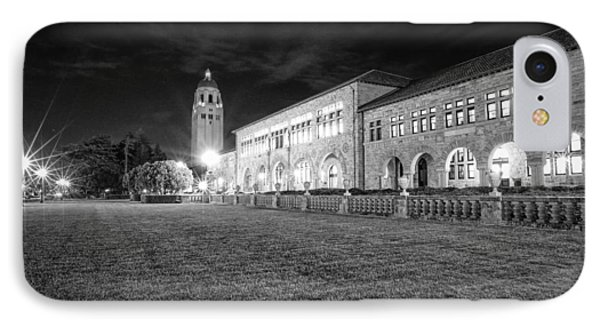 Hoover Tower Stanford University Monochrome IPhone Case by Scott McGuire