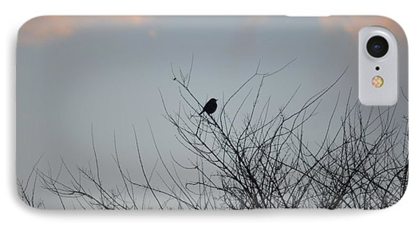 Hope Perched  Atop IPhone Case by Sonali Gangane