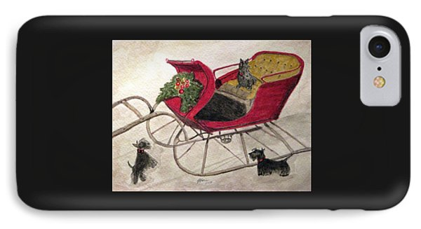 Hoping For A Sleigh Ride IPhone Case by Angela Davies