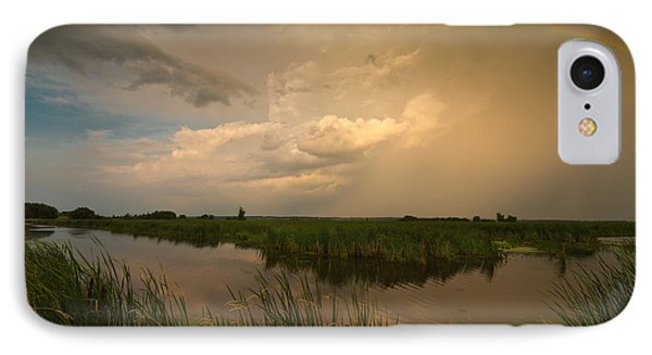 Horicon Marsh Storm Phone Case by Steve Gadomski