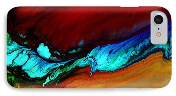 Horizontal Abstract Art Blue Rhapsody By Kredart Phone Case by Serg Wiaderny