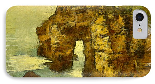 Horn Head Temple Arch Phone Case by Unknown