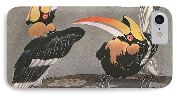 Hornbills IPhone Case by Ethleen Palmer