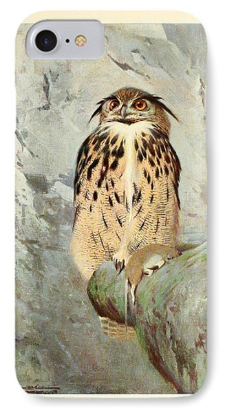 Horned Owl IPhone Case by Philip Ralley
