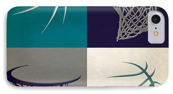 Hornets Ball And Hoop IPhone Case by Joe Hamilton