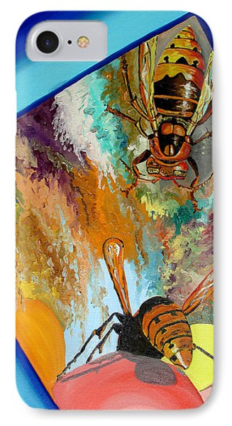 IPhone Case featuring the painting Hornets by Daniel Janda