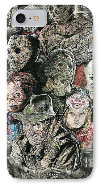 Horror Movie Murderers IPhone Case by Daniel  Ayala
