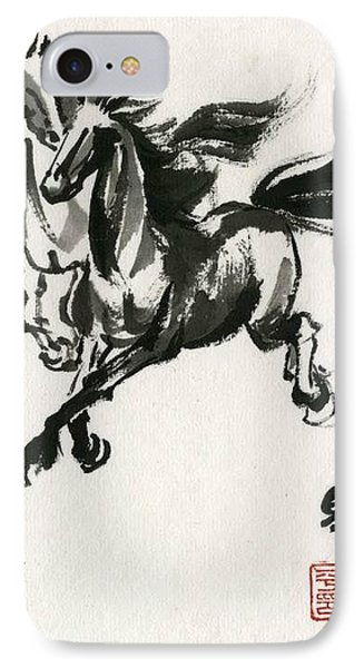 IPhone Case featuring the painting Horse #1 by Ping Yan