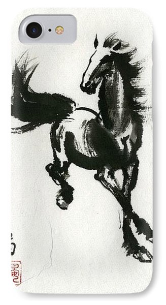 IPhone Case featuring the painting Horse #2 by Ping Yan