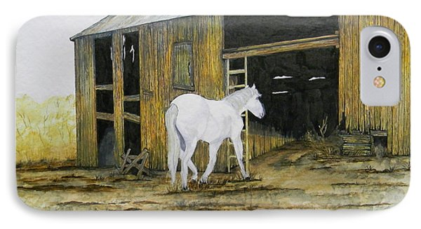 Horse And Barn Phone Case by Bertie Edwards