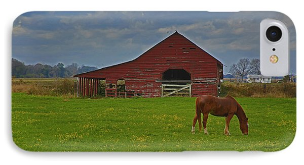Horse And Barn IPhone Case