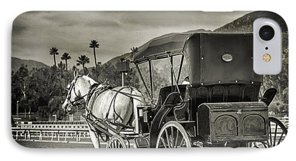 Horse And Buggy IPhone Case by Camille Lopez