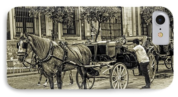 Horse And Buggy In Sevilla - Spain IPhone Case by Madeline Ellis