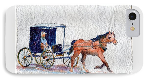 IPhone Case featuring the painting Horse And Buggy by Mary Haley-Rocks