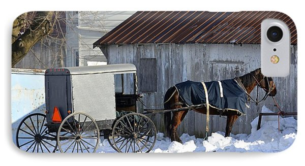 Horse And Buggy Parked IPhone Case