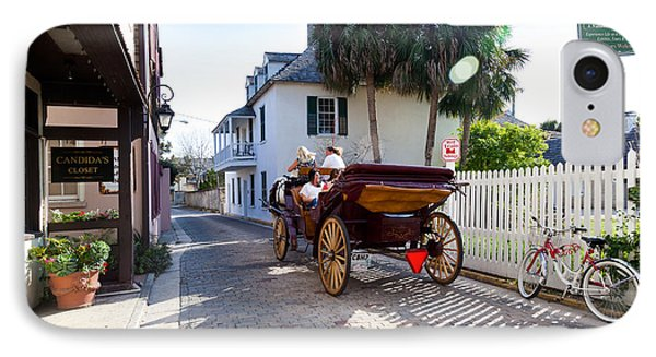 Horse And Buggy Ride St Augustine Phone Case by Michelle Wiarda