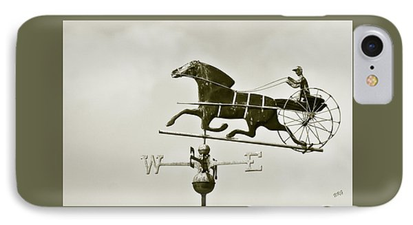 Horse And Buggy Weathervane In Sepia Phone Case by Ben and Raisa Gertsberg
